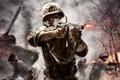 Картинка солдат, танк, стрельба, call of duty, вторая мировая война, thompson, world at war