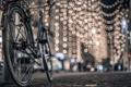 Картинка макро, велосипед, огни, фон, обои, настроения, размытие