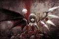 Картинка девушка, кровь, розы, крылья, шипы, вампир, Touhou