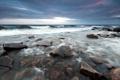 Картинка море, пейзаж, ночь, природа, камни