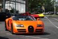 Картинка Roadster, Bugatti, Veyron, supercar, orange, Ferrari 458 Italia, Grand Sport