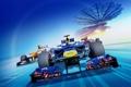 Картинка машина, трасса, гонки, Формула 1, Red Bull, стадион, болиды