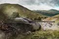 Картинка поле, Германия, танк, танки, Germany, WoT, Мир танков