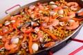 Картинка моллюски, креветки, рис, паэлья, нут