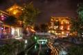 Картинка свет, пейзаж, ночь, дома, Ancient, Town of Lijiang