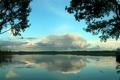 Картинка Небо, Вода, Природа, Облака, Отражение, Фото, Озеро