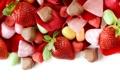Картинка клубника, шоколад, конфеты, сладости