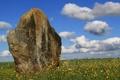 Картинка облака, небо, каменная глыба, Stones-Stone, поле, Standing