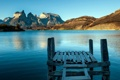 Картинка горы, мост, озеро