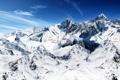 Картинка небо, снег, горы, вершины, высь