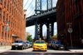 Картинка здания, авто, нью йорк, улица, город, такси, мост