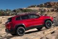 Картинка красный, джип, внедорожник, Jeep, Cherokee, Trailhawk
