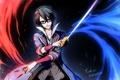 Картинка оружие, арт, парень, ножи, anime, сабля, K Project
