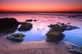 Картинка море, вода, камни, океан, рассвет, берег, утро