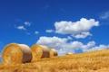 Картинка лето, небо, пейзаж, сено