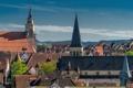 Картинка крыша, небо, дома, Тюбинген, башня, Германия