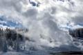 Картинка winter, Yellowstone National Park, Norris Geyser Basin