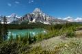 Картинка лес, деревья, горы, озеро, Канада, Banff National Park, Банф