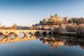 Картинка пейзаж, отражение, река, Франция, здания, собор, France