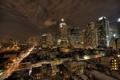 Картинка свет, ночь, город, нью йорк, окнах