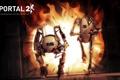 Картинка Огонь, Роботы, Robots, Valve, Portal 2