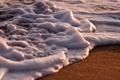 Картинка песок, море, пена, вода, макро фото