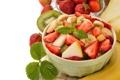 Картинка Apple, яблоко, киви, клубника, банан, десерт, banana