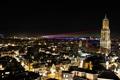 Картинка ночь, город, огни, башня, дома, европа