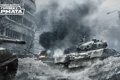 Картинка дом, дым, танк, tanks, CryEngine, mail.ru, Armored Warfare