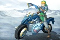 Картинка мотоцикл, bike, art, Nintendo, link, Hyrule Warriors, legend of zelda