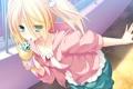 Картинка солнце, окна, девочка, мороженное, mutou kurihito
