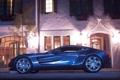 Картинка Aston Martin, light, house, supercar, night, street, one 77