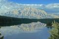 Картинка лес, небо, горы, озеро, Канада, Альберта, Banff National Park