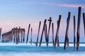 Картинка закат, NEW JERSEY, океан, вода, волны, море, холод