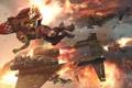 Картинка воздушный бой, реактивный ранец, warhammer 40000, орки