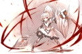 Картинка щит, посох, броня, девушка, аниме, shirogane usagi, арт