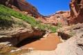 Картинка скалы, деревья, каньон, небо, вода, озеро, ущелье