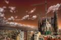 Картинка город, дома, Barcelona
