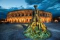 Картинка памятник, скульптура, колизей, France, тореодор, Nimes