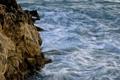 Картинка камни, синий, берег, скалы, вода, волны, море