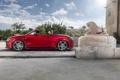 Картинка cabrio, профиль, ауди, Audi, кабриолет, red, красный