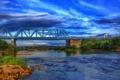 Картинка мост, city, город, река, Калуга, Kaluga, Угра
