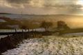 Картинка пейзаж, поле, забор