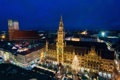 Картинка Ночь, Munich, Германия, фото, Город, Дома