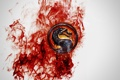 Картинка огонь, дракон, арт, профиль, fire, Mortal Kombat, Dragon Logo