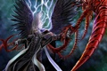 Картинка молнии, кровавый, ангел тьмы