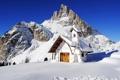 Картинка пейзаж, дом, гора
