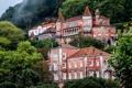 Картинка деревья, горы, дома, Португалия, дворцы, Sintra