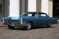 Картинка де виль, синий, передок, Sedan, колонны, хадтоп, Cadillac