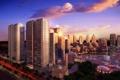 Картинка свет, небоскребы, City, buildings, фантаны